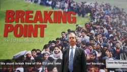 "Nigel Farage and his ""breaking point"" poster"